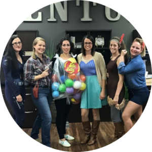 Group employee halloween costume photo