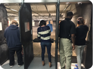 Group outing to the shooting range